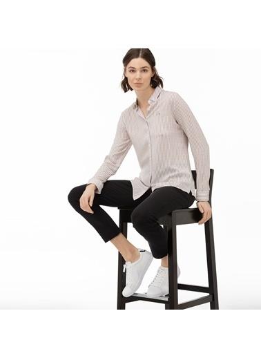 Lacoste Kadın Çizgili Gömlek CF0016.16P Pembe